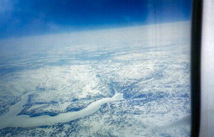 Rare ariel view of greenland