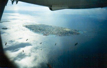 Bird's eye view of Male'-The capital island city of The Republic Of Maldives