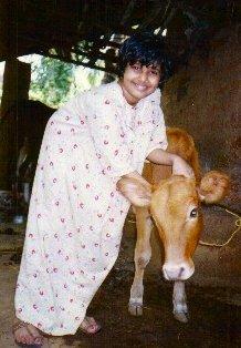 sanju and calf at Kannur