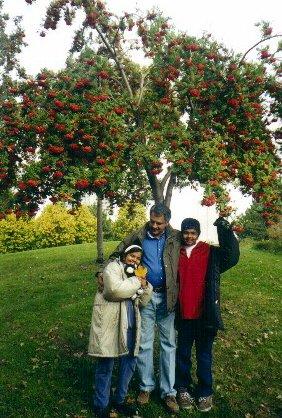 Sanju with Dad and Arjun